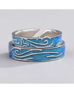 Personalized Matching Promise Rings for Couples