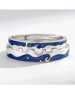 Matching Relationship Rings Anniversary Gift for Couple