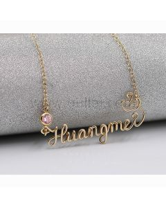 Handwriting Crown Name Necklace Gift for Her