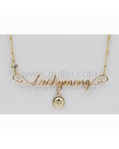 Angel Wings Custom Name Necklace Gift for Girlfriend