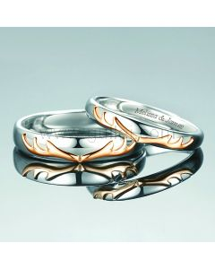 Couple Rings for Men and Women Sterling Silver