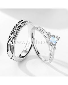 Personalized Men and Women Anniversary Rings Gift