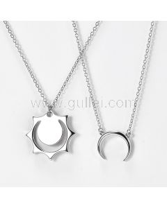 Sun and Moon Promise Couple Necklaces Gift