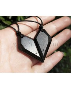 Matching Magnetic Half Hearts His and Her Necklaces Set