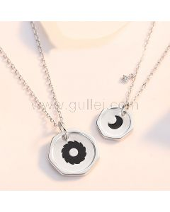 Sun and Moon Matching Necklaces Anniversary Gift