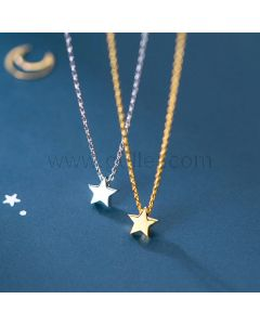 Matching Star Bff Couple Necklaces Birthday Gift