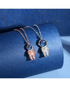 Matching Friendship Necklaces Gift for Space Fans