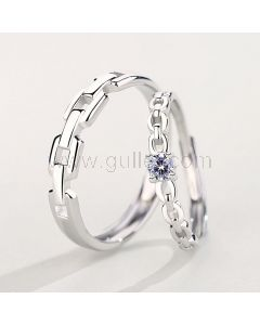 Matching Couple Engagement Rings Set for two