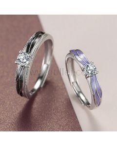 Angel Wings Couple Rings Anniversary Gift (Adjustable Size)