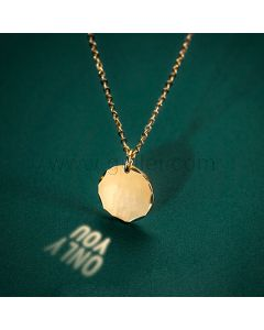 Light Reflection Message Necklace For Him or Her