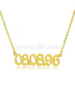 Custom Date Name Necklace