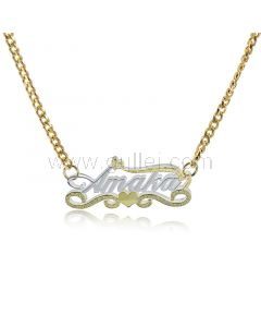 Two Color Tone Custom Name Necklace