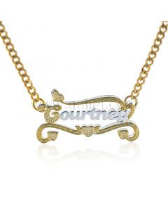 Two Color Custom Name Pendant Necklace