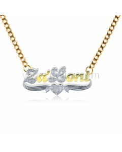 Customized Two Color Tone Name Necklace