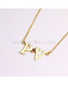 2 Name Initials Necklace for Her