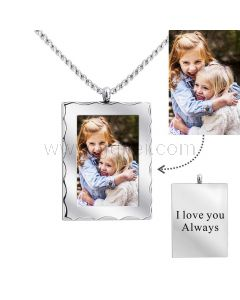 Personalized Photo Pendant Necklace for Her