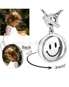 Personalized Photo Print Necklace for Her