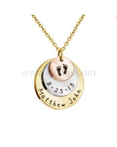 New Born Baby Name Charm Necklace for Mom
