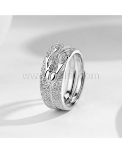 Custom Engraved Couple Wedding Bands for Two
