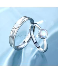 Mountain and Ocean Bff Promise Rings Set