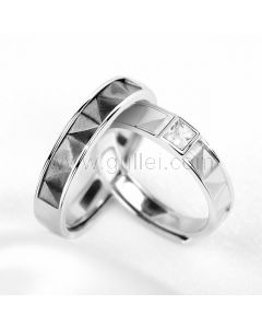 Matching His and Her Couple Rings Set