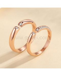 Custom Engraved Matching Wedding Bands for Two