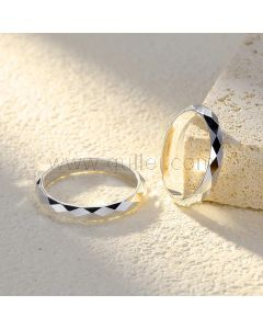 Personalized Name Couple Engagement Rings Set