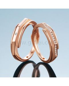 Custom Gold Wedding Rings for Him and Her