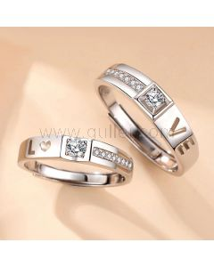 LOVE Wedding Rings Set for a Couple