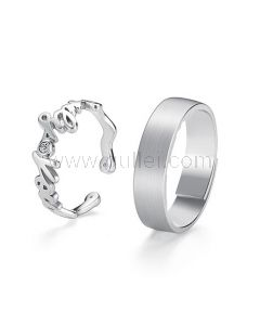 His and Hers Wedding Rings Set for 2