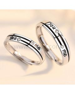 You Me Couple Wedding Bands Set for 2