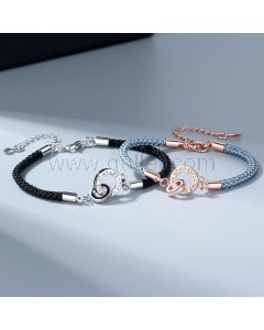 Personalized Matching Charm Bracelets Set for 2