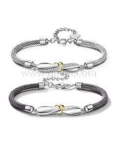 Personalized His and Her Bff Bracelets Set for 2