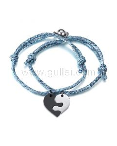 Personalized Connecting Heart Bracelets Set for 2