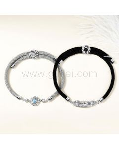Matching Magnetic Bracelets Gift Set for Him and Her