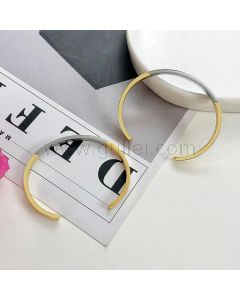 Personalized Bangle Bracelets Set for Him and Her