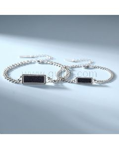 Matching Chain Bracelets Set for Him and Her