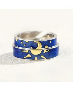 Sun and Moon Promise Rings Gift for Boyfriend Girlfriend