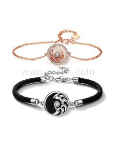 Matching His and Her Charm Bracelets Set for 2