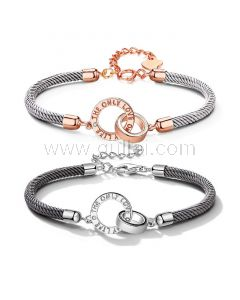 Personalized Promise Ring Bracelets Set for 2