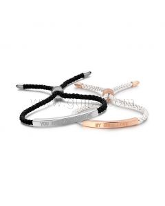 Personalized Promise Bracelets Anniversary Gift Set