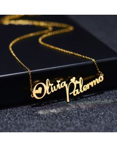 Two Names Custom Name Necklace for Her