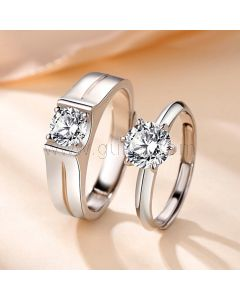 1.8 Carat Diamond Promise Ring for Him and Her