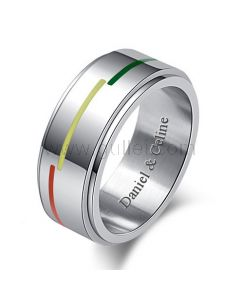 Personalized Male Promise Ring 8mm Titanium