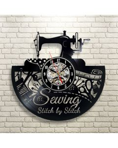 Sewing Theme Vinyl Record Wall Clock Gift for Taylor