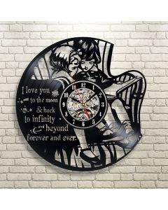 Brother and Sister Theme Vinyl Wall Clock Gift