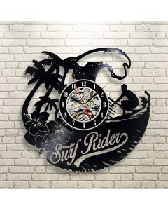 Best Christmas Gift for Surfers Vintage Vinyl Wall Clock