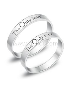 Engraved Couples Promise Eternity Titanium Ring Bands for 2