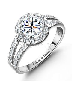Name Engraved Wedding Ring for Women Sterling Silver