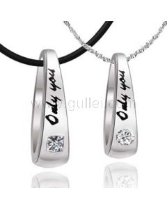 Personalized ONLY YOU Engravable Couples Necklaces Set for 2